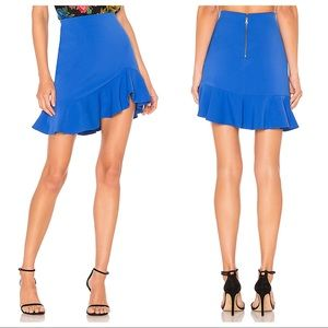 NWT Alice + Olivia Marcella Ruffle Skirt Cobalt 10